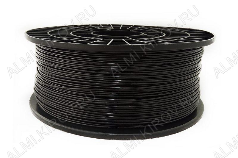 PETG пластик для 3D печати 1.75мм. Черный (6745) 1кг; Плотность 1,27 г/см; Темп. экструзии 220-240 °С; Темп. стола 70°C; Производитель:  (ФДпласт)