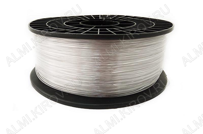 PETG пластик для 3D печати 1.75мм. Бесцветный (6742) 1кг; Плотность 1,27 г/см; Темп. экструзии 220-240 °С; Темп. стола 70°C; Производитель:  (ФДпласт)