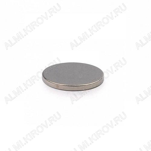 Неодимовый магнит диск 10х1 мм Сила сцепления 0.5кг; вес 0.6гр;