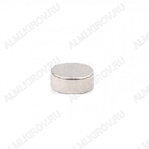 Неодимовый магнит диск 10х4 мм Сила сцепления 2.3кг; вес 2.4гр;