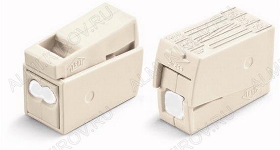 Клемма WAGO 224-122 для светильников с пастой (1.0-2.5)x2/(0.5-2.5) мм 400V; 24A; паста Alu-Plus