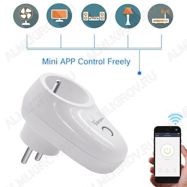 Wi-Fi розетка Sonoff S26 90-250В; 10А; 2200Вт; размеры 97*56*72мм; EWeLink