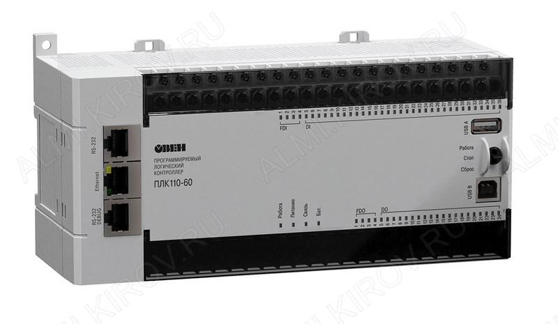 Контроллер логический программируемый ПЛК110-24.60.Р-М(М2) Напряжение питания 24В,60 точек ввода вывода, выход-реле,