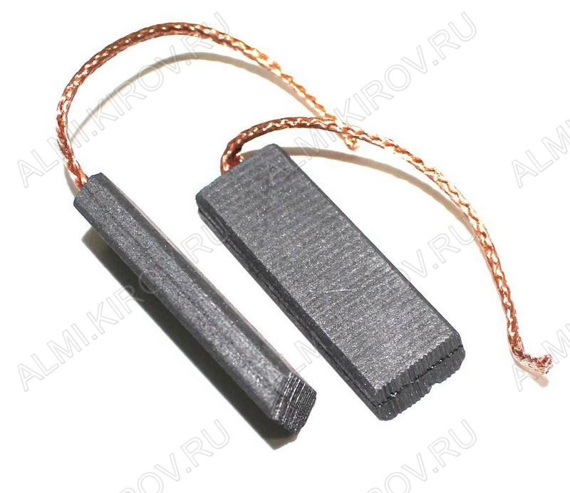 Щетки элетродвигателя 5*12,5*35 провод от центра (пара)