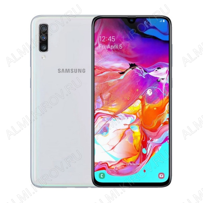 Смартфон Samsung Galaxy A70 6/128GB White