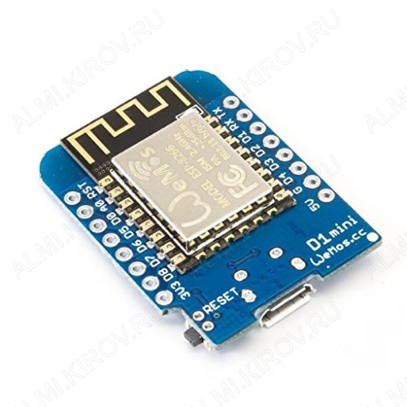 Плата отладочная WeMos D1 Mini (схожа с NodeMCU) ESP8266, CP2104, WIFI, 3.3V
