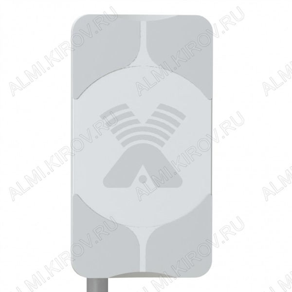 Антенна стационарнaя AGATA-2F MIMO2x2 (75 Ом) для 3G/4G USB-модема 2G/3G/4G/LTE/WIFI; 1700-2700 MHz; 17,5dB; без кабеля; 2 разъема F-гнезда