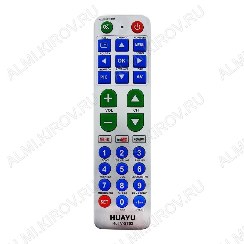 ПДУ УНИВЕРСАЛ R-TV1 (RUTV-ST02) TV NETFLIX, YOUTUBE, AMAZON