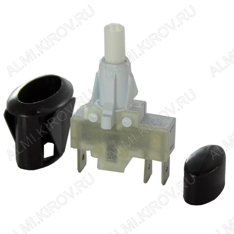 Кнопка розжига Gefest, ПКН-506-222 овал (черная)