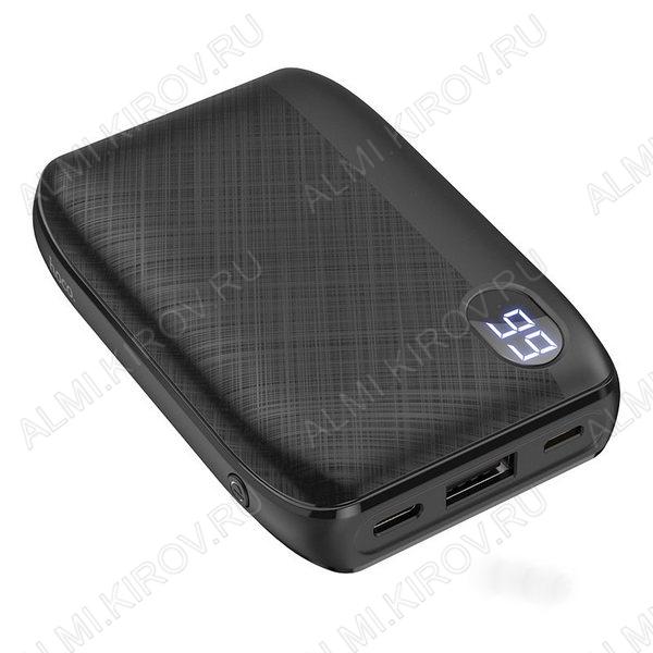 Аккумулятор внешний 10000mAh J53  дисплей, черный выход: 1*USB; 2.0A