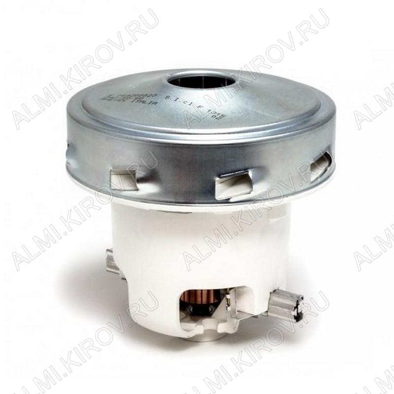 Двигатель пылесоса 1300 Вт  VAC013UN D=130, H=131, h=44, моющий, N61100820033, E064200027, 11ME62, без юбки, контакты раздельно