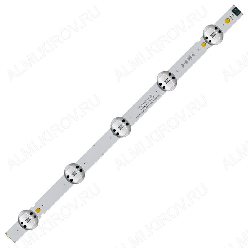 Модуль подсветки LED TV 440*20мм 5 линз; SSC_43LK61(LGD)_5LED_SVL430A60_REV1.0 6V; шаг 90mm; 43