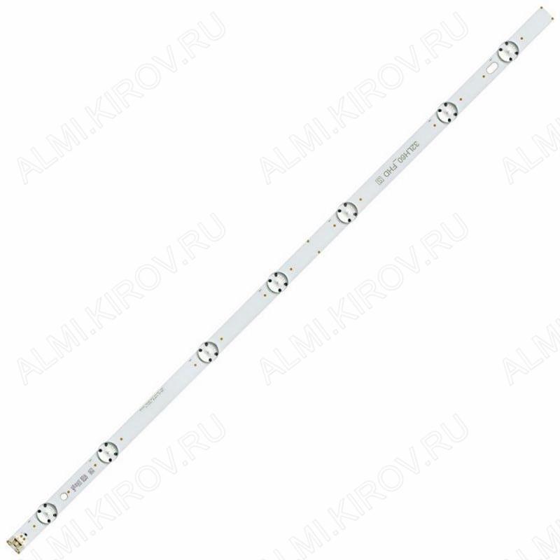 Модуль подсветки LED TV 615*15мм 7 линз; SSC_32inch_FHD_REV01_151102 (32LH60_FHD_S) 3V; шаг 70_115_80_80_115_70mm; 32