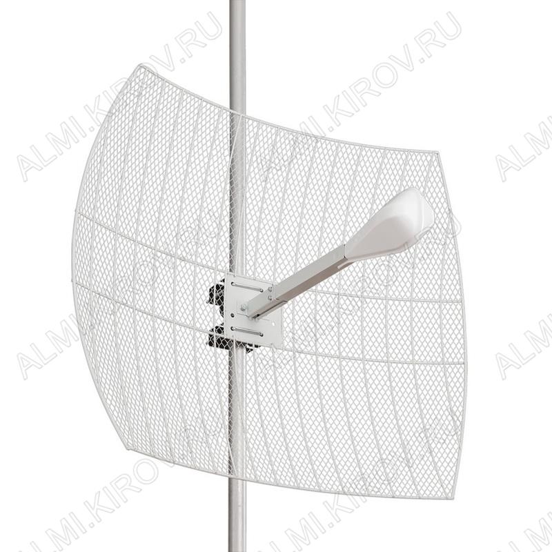 Антенна стационарная KNA24-1700/2700 MIMO SMA-male для 3G/4G-модема 3G/4G/LTE/WIFI; 1700-2700 MHz; Параболическая; 24dB; без кабеля; 2 разъема SMA-штекеры