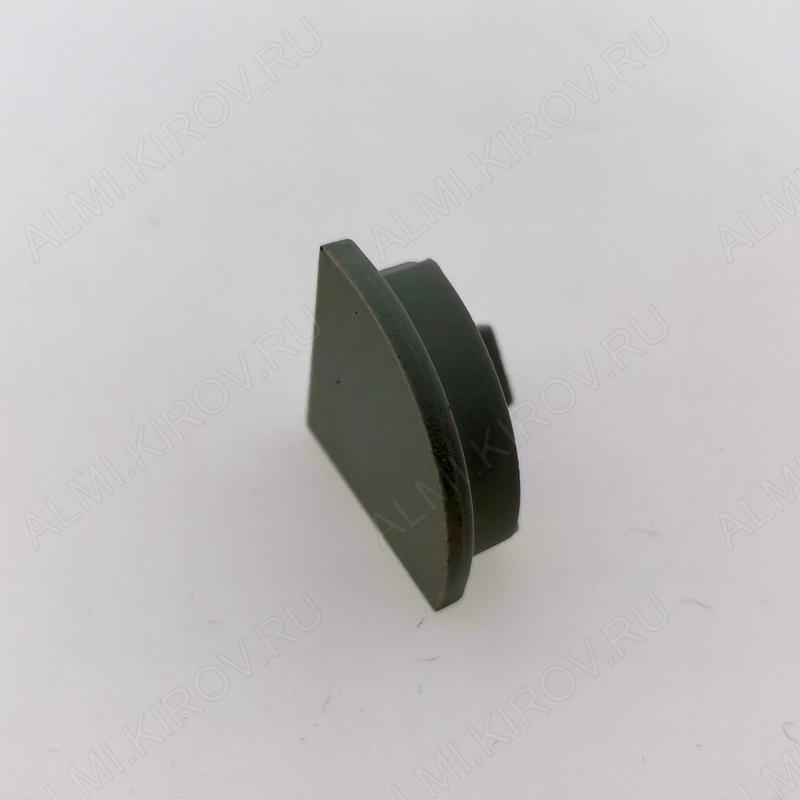 Заглушка ARH-KANT-16R (016567)  для профиля ARH-KANT-H16-2000 ANOD с полукруглым экраном глухая; пластик