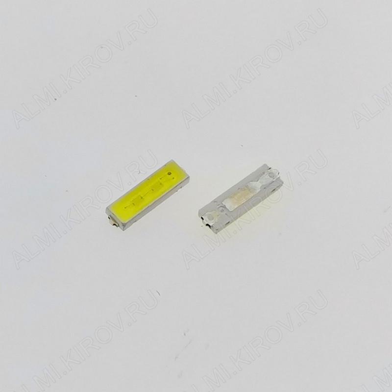 Светодиод SMD 7020; 6-6.8V; 80mA 6V; 2pin; широкий: катод(-); для модулей подсветки LED TV