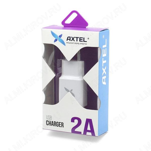 Сетевое зарядное устройство с выходом USB, 2A, белое;
