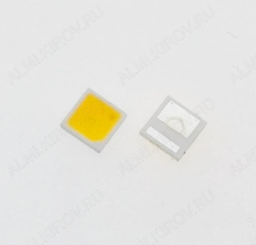 Светодиод SMD 3030; 6..2-6.8V; 1.6W; 3000K; Double Chips (тёплый белый) 6V; 2pin; широкий: катод(-); для модулей подсветки LED TV