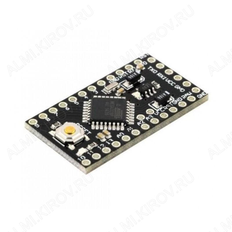 Плата отладочная Pro Mini, ATmega328, 3.3V, Для программирования используйте преобразователь USB - UART на CH340