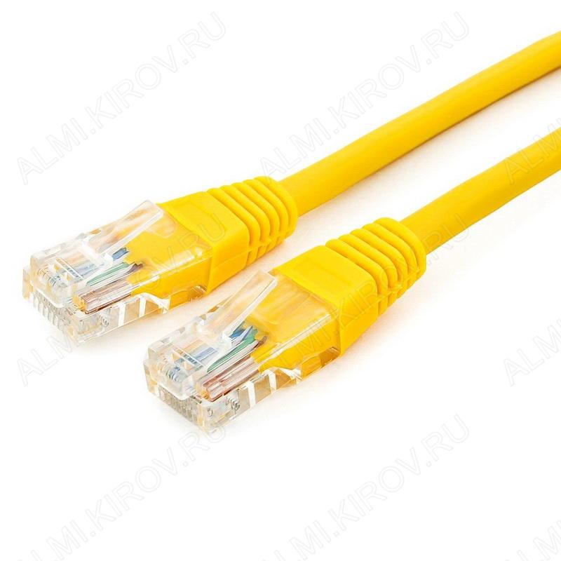 Патч-корд UTP 4 пары кат.5E 0.5м желтый