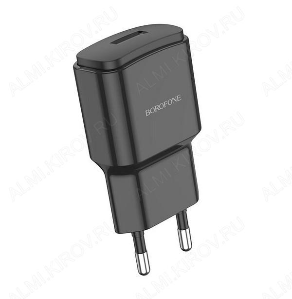 Сетевое зарядное устройство с выходом USB, 2.1А, черное, BA48A;