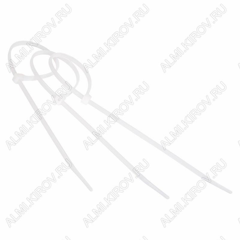 Стяжка кабельная 200*3,6 мм белая (100шт)