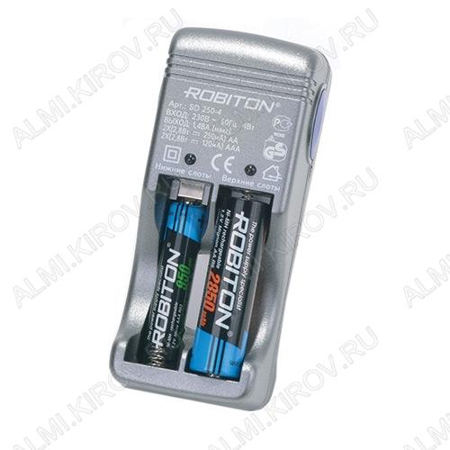 Зарядное устройство SD250-4 250mA для 2-4шт NiCd,NiMh R03/AAA или R6/AA