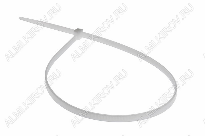 Стяжка кабельная 400*4,8 мм белая (100шт)