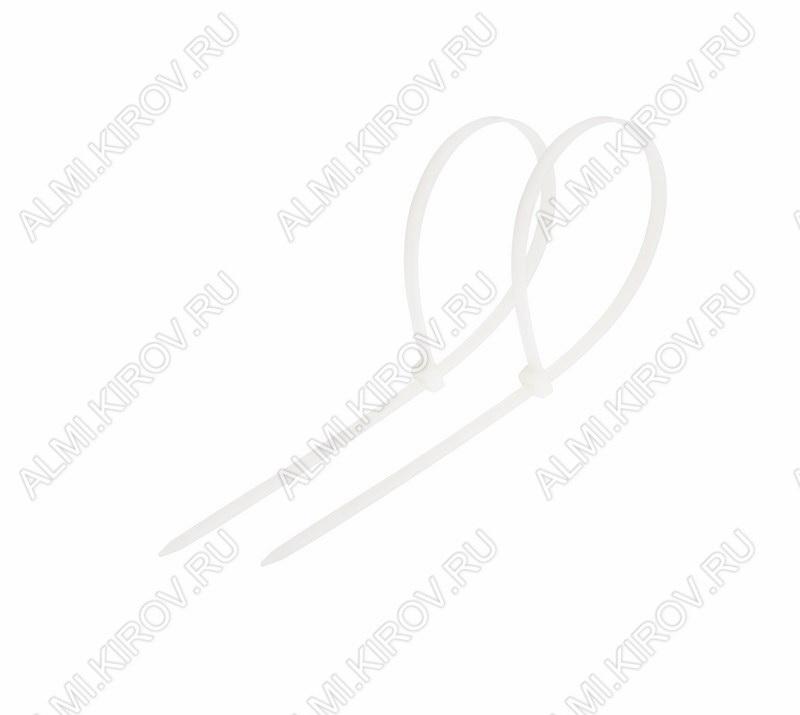 Стяжка кабельная 120*2,5 мм белая (100шт)