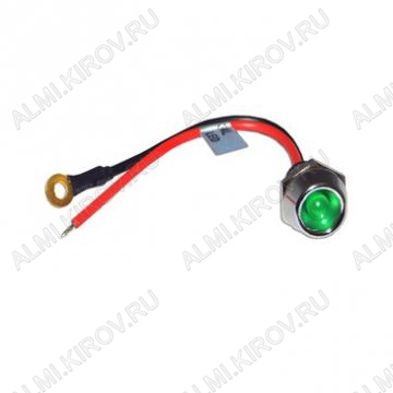 Лампа индикаторная R9-34L зеленая с кабелем