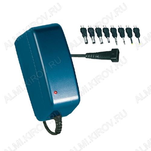 Блок питания AC/DC 220V/3-8.4V PHOTO 2.5A(max) Универсальный, стабилизированный, импульсный, Uвых=3;3.3;5V (Iвых=2.5A); 6;6.5;7V (Iвых=2.1A); 8.4V (Iвых=1.5A), 8 насадок