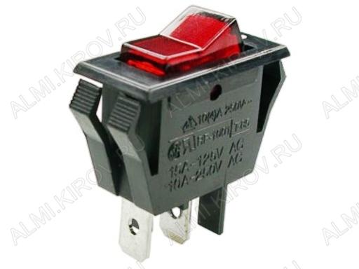 Сетевой выключатель RWB-413 (SC-788) красный с подсветкой для сетевого фильтра 27,9*13,5mm; 10A/250V; 3 pin