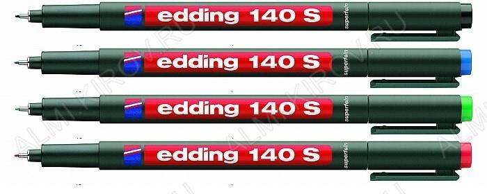 Маркер д/надписей на ПВХ 0,3мм EDDING 140S (набор 4 цвета)