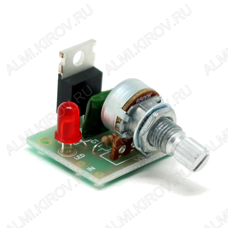 Радиоконструктор Регулятор мощности 500Вт 220В BM245 (на симисторе) 220В (2.2А). Устройство для регулирования мощности электронагревательных, осветительных приборов, электропаяльника, коллекторных электродвигателей пер