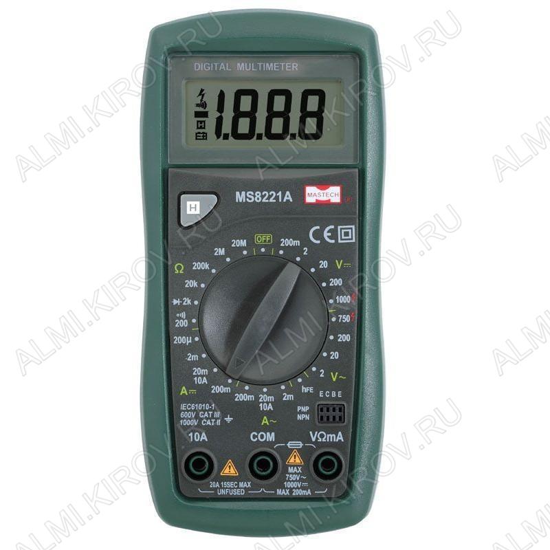 Мультиметр MS-8221A (Гарантия 6 месяцев)