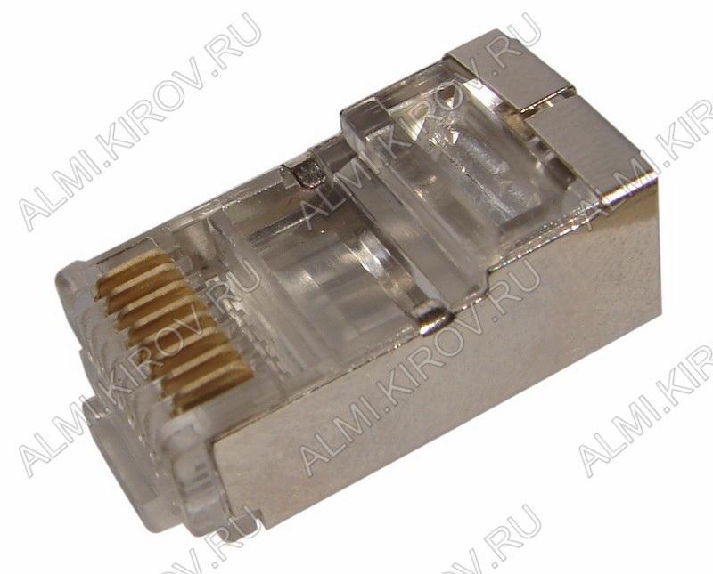 Разъем (2311) TP-8P8C (RJ-45) экранированный Вилка на кабель, 8*8