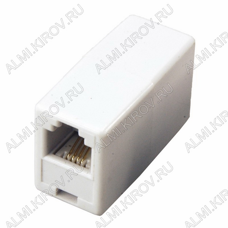 Переходник (2341) телефонное гнездо/гнездо Для внешней проводки