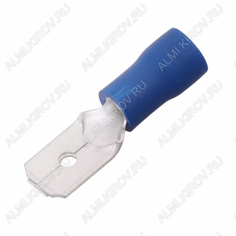 Клемма ножевая (№18) 6.4x0.8 штекер VM2-250 изолированная сечение 1.5-2.5 мм2; синяя