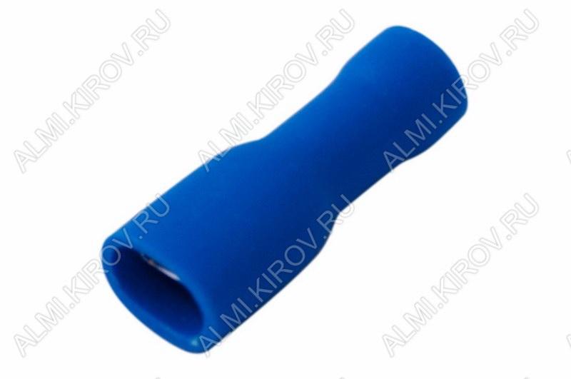 Клемма ножевая (№8) 4.8x0.8 гнездо VF2-187(8)A полностью изолированная сечение 1.5-2.5 мм2; синяя