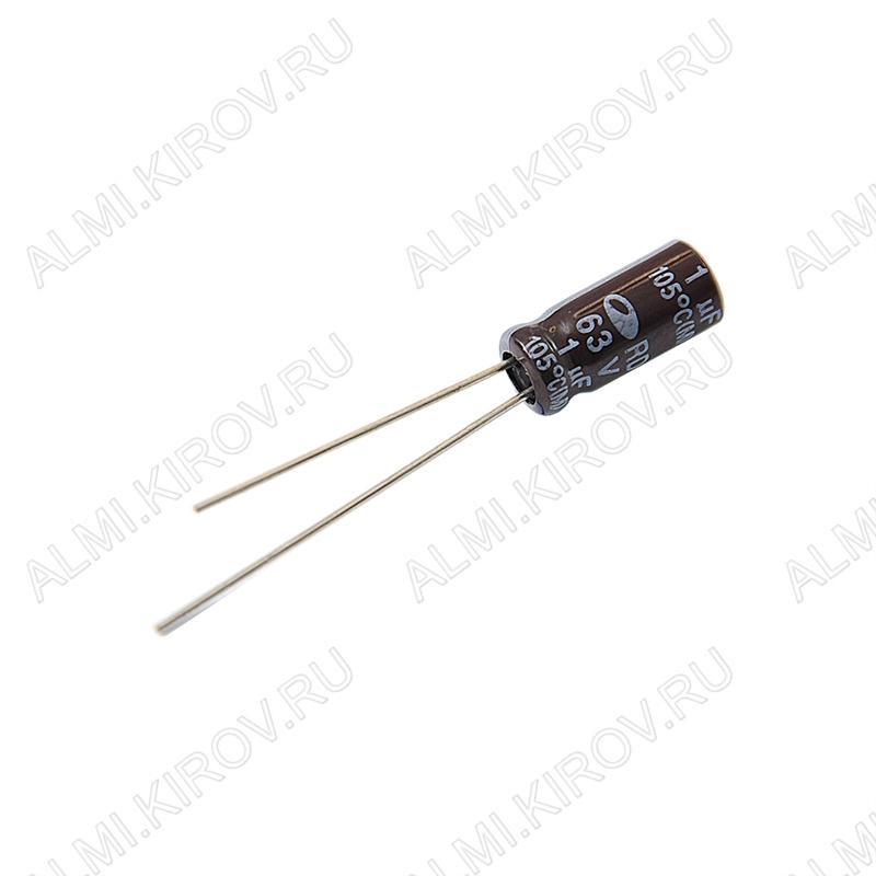 Конденсатор электролитический   1мкФ 63В 0511 +105°C