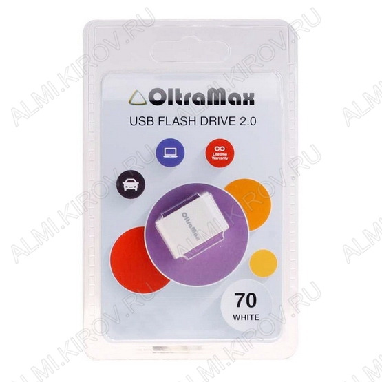 Карта Flash USB 8 Gb (70 White mini) USB 2.0