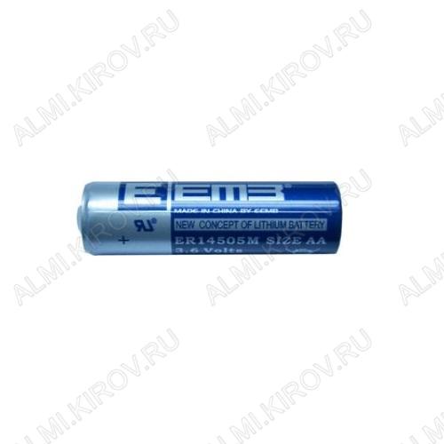 Элемент питания ER14505M-FT Li высокотоковый 3.6V, 1800mA/h, пластинчатые выводы                                                                               (цена за 1 эл. питания)