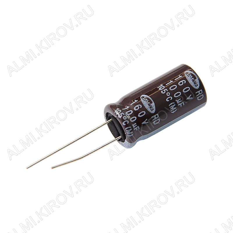 Конденсатор электролитический   100мкФ 160В 1325 +105°C