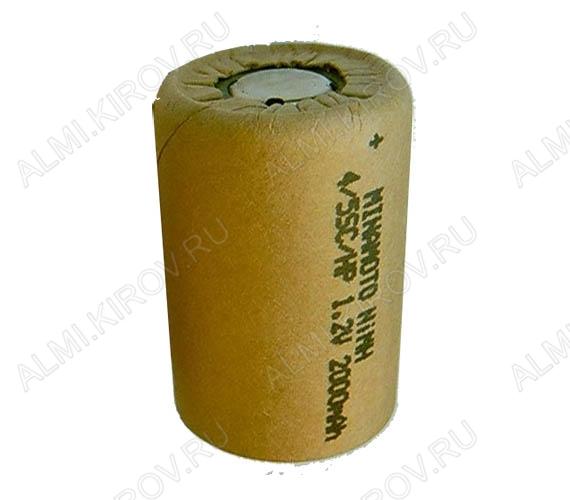 Аккумулятор 4/5SC MH-2000SC/HP 2000mAh 1.2V;NiMh; 23*34мм                                                                                                          (цена за 1 аккумулятор)