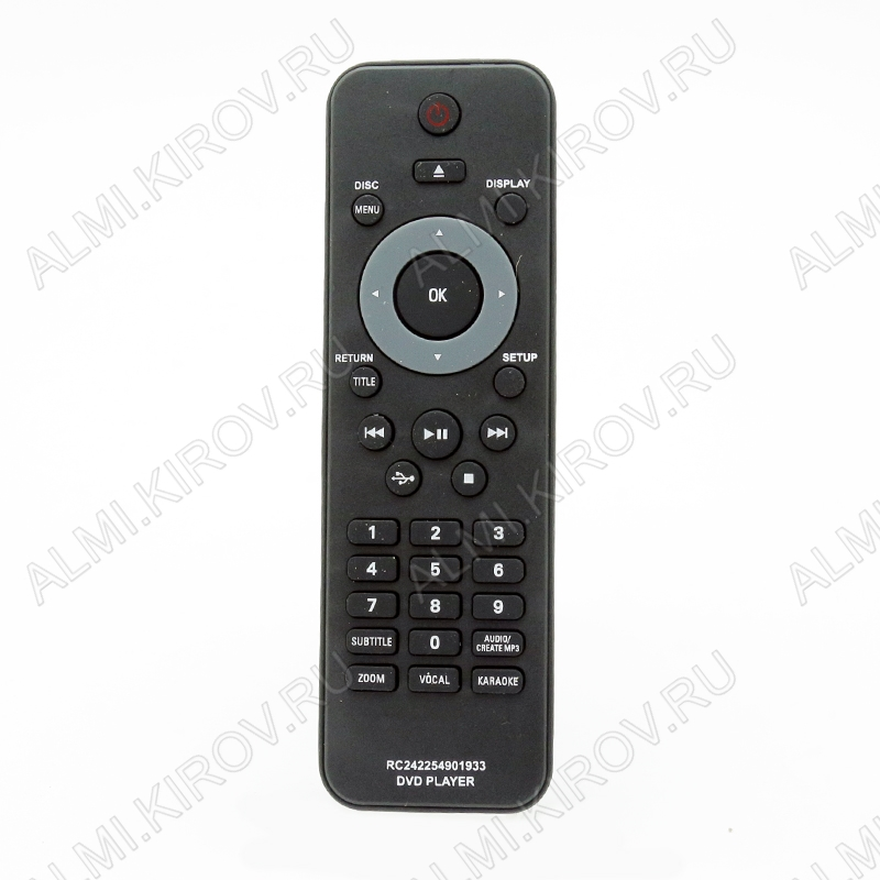 ПДУ для PHILIPS 2422 549 01933 DVD+USB+karaoke