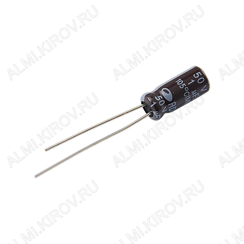Конденсатор электролитический   1мкФ 50В 0511 +105°C
