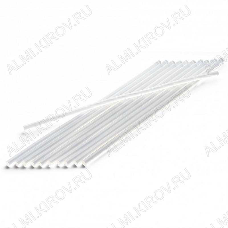 Термоклей d=7мм прозрачный длина 300мм