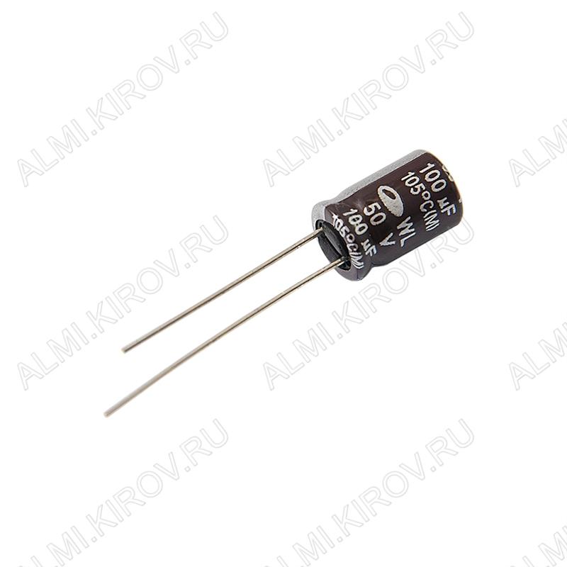Конденсатор электролитический   100мкФ 50В 0812 +105°C компьютерные;