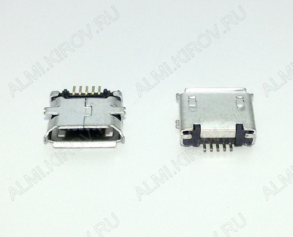 Разъем (381) MICRO USB 5pin гнездо на плату