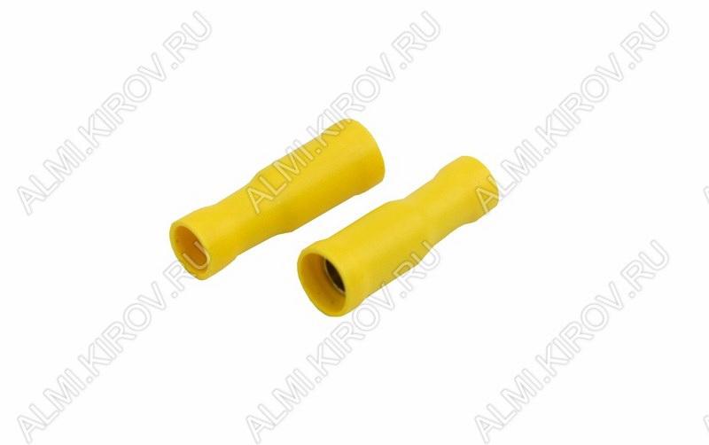 Клемма цилиндр (№44) d=5мм гнездо RE5-5VF изолированная сечение 3.5-5.5 мм2; желтая